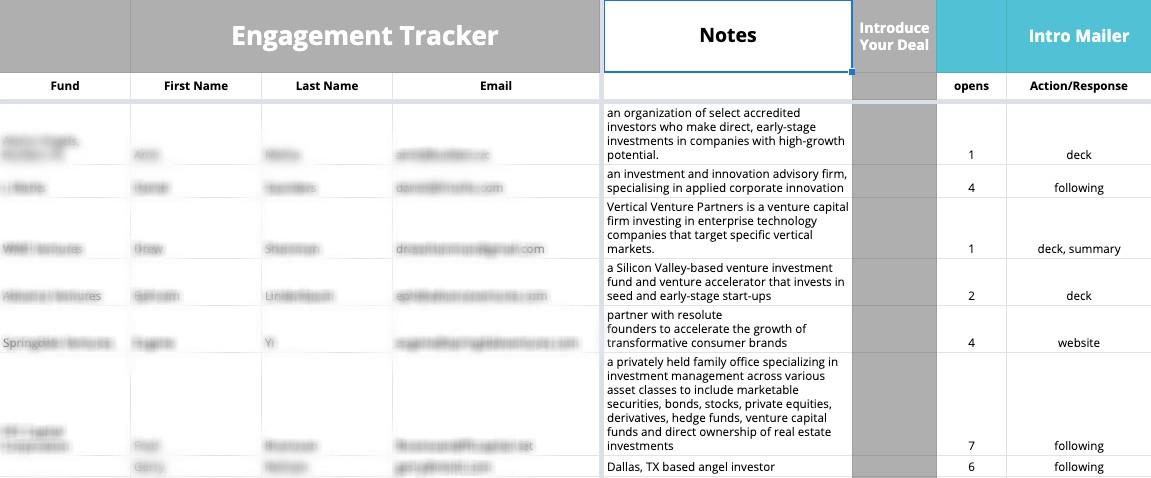 ten capital engagement tracker