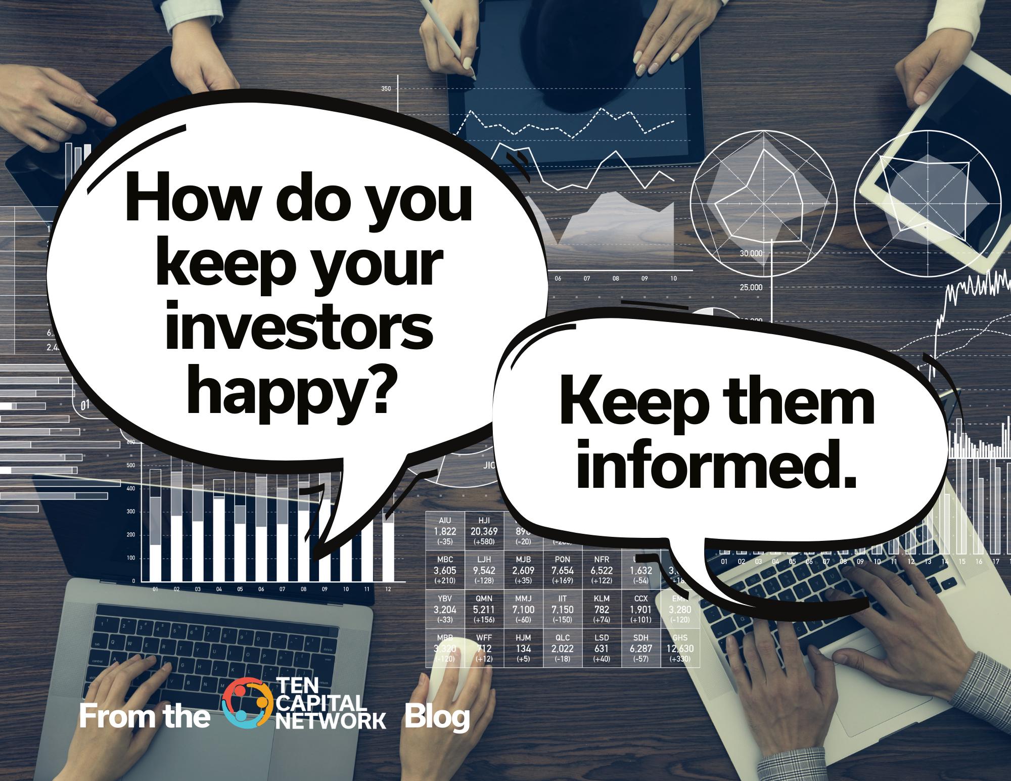 keep your investors happy